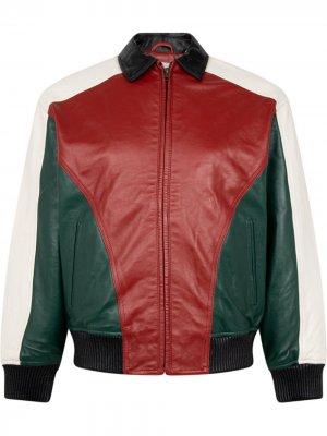 Куртка с декорированным логотипом Supreme. Цвет: красный
