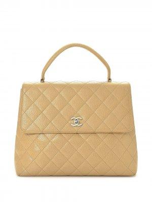 Стеганая сумка Kelly Chanel Pre-Owned. Цвет: коричневый