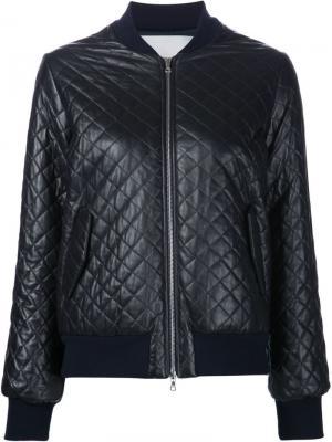 Стеганая куртка-бомбер Adam Lippes. Цвет: чёрный