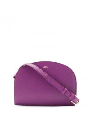 Клатч с логотипом A.P.C.. Цвет: фиолетовый