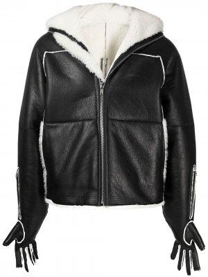 Куртка с рукавами-перчатками Rick Owens. Цвет: черный