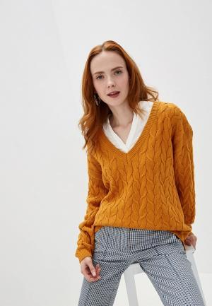Пуловер Vila. Цвет: желтый