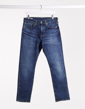 Суженные книзу темные джинсы в винтажном стиле Levis 502-Синий Levi's