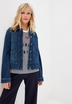 Куртка джинсовая s.Oliver. Цвет: синий