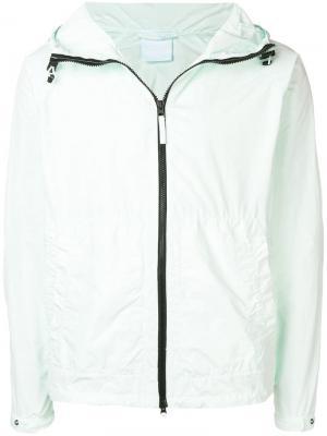 Куртка на молнии с капюшоном Aspesi. Цвет: зеленый