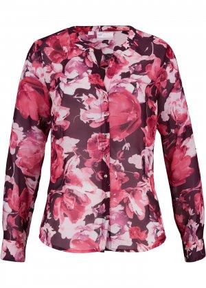 Блузка с принтом bonprix. Цвет: лиловый