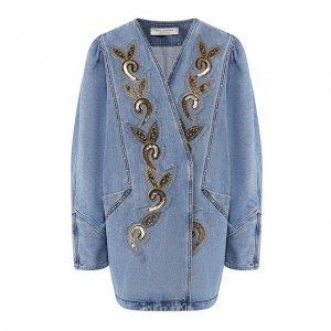 Джинсовая куртка Philosophy di Lorenzo Serafini. Цвет: синий