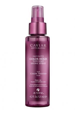 Спрей для придания блеска Caviar Anti-Aging Infinite Color Hold Topcoat Shine Spray, 125 ml Alterna. Цвет: без цвета