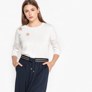 Пуловер с рукавами 3/4 со звёздами MONSERGE SUD EXPRESS. Цвет: кремовый,синий