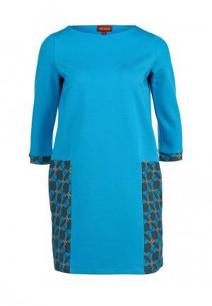 Платье Анна Чапман. Цвет: голубой