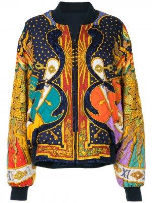 Двусторонний бомбер Carpe Diem Hermès. Цвет: разноцветный