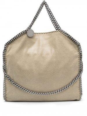 Большая сумка-тоут Falabella Stella McCartney. Цвет: нейтральные цвета