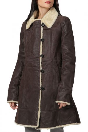 Coat Isaco & Kawa. Цвет: dark brown