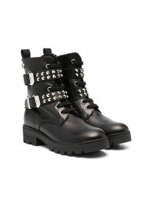 Ботинки с пряжками Philipp Plein. Цвет: черный