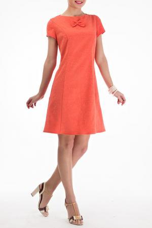 Платье LEBBEL. Цвет: оранжевый
