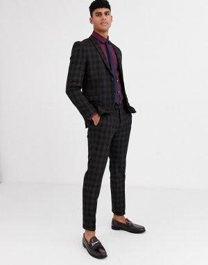 Черный пиджак в клетку Premium-Черный цвет Jack & Jones