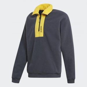 Флисовый свитшот Adventure Originals adidas. Цвет: серый