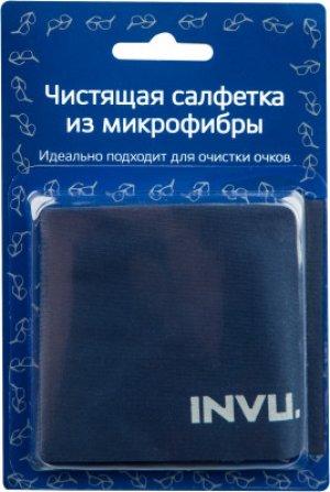Чистящая салфетка для очков Invu. Цвет: синий