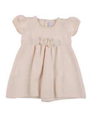 Платье COLIBRI. Цвет: бежевый