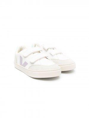 V-12 touch-strap sneakers Veja Kids. Цвет: белый