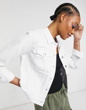 Белая джинсовая куртка -Белый Vero Moda