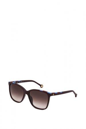 Очки солнцезащитные Carolina Herrera. Цвет: коричневый