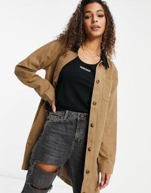 Длинная коричневая куртка Drill-Коричневый цвет Vans