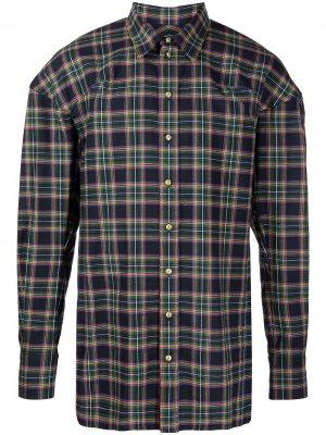 Рубашка Football в клетку Vivienne Westwood. Цвет: синий