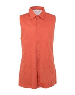 Pубашка ACNE STUDIOS. Цвет: оранжевый