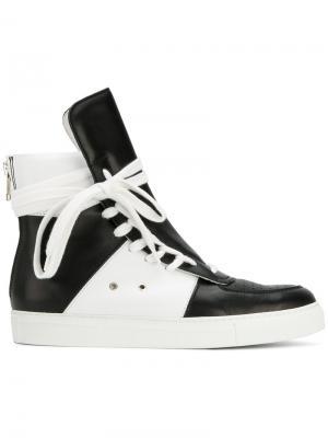 Хайтопы на шнуровке Kris Van Assche. Цвет: чёрный