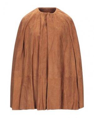 Накидка RICK OWENS. Цвет: коричневый