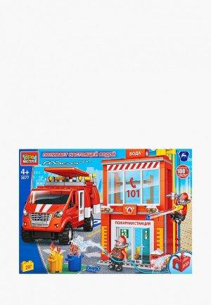 Конструктор Город Мастеров Пожарная база с водой, 297 деталей. Цвет: разноцветный