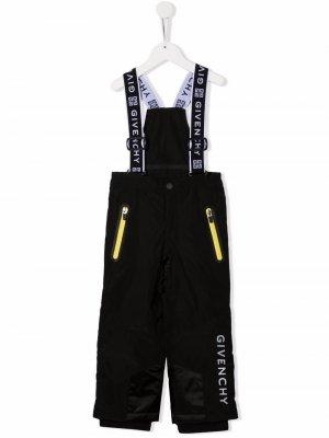 Комбинезон с прямыми брюками и логотипом Givenchy Kids. Цвет: черный