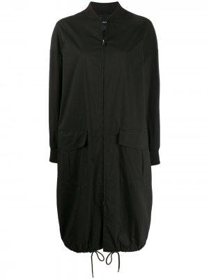 Длинная куртка-бомбер на молнии DKNY. Цвет: черный