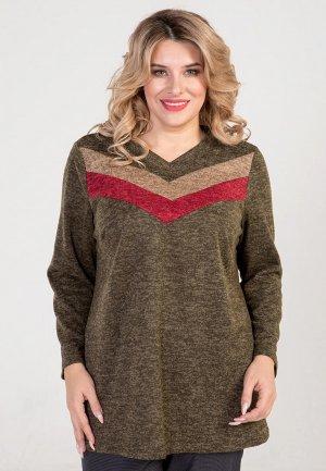 Пуловер Luxury Plus. Цвет: зеленый