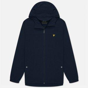 Мужская куртка ветровка Zip Through Hooded Lyle & Scott. Цвет: синий