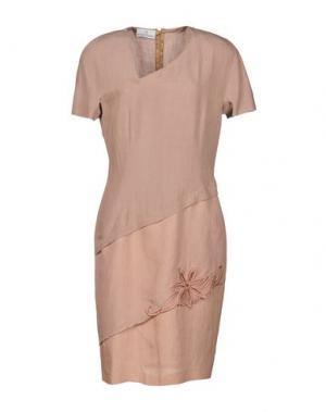 Короткое платье FIORELLA RUBINO. Цвет: телесный