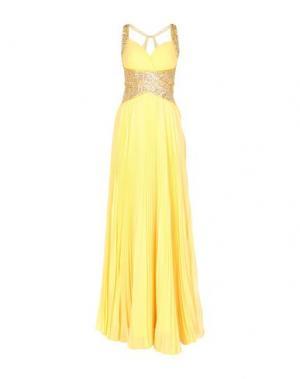 Длинное платье MIKAEL. Цвет: желтый