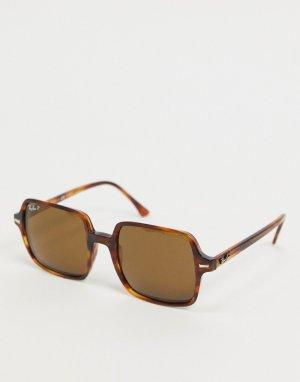 Коричневые черепаховые солнцезащитные очки Rayban-Коричневый цвет Ray-Ban