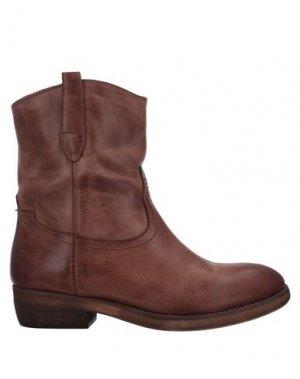 Полусапоги и высокие ботинки ALBERTO BRESSAN. Цвет: коричневый