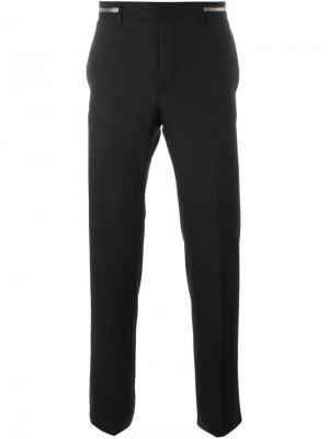 Классические брюки с декоративной молнией на поясе Givenchy. Цвет: чёрный