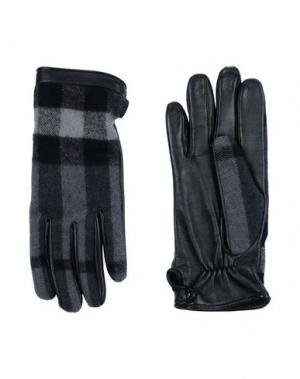 Перчатки BURBERRY. Цвет: серый