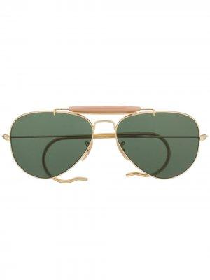 Солнцезащитные очки-авиаторы Ray-Ban. Цвет: золотистый