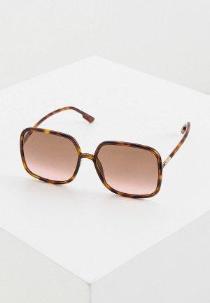 Очки солнцезащитные Christian Dior SOSTELLAIRE1 086. Цвет: коричневый