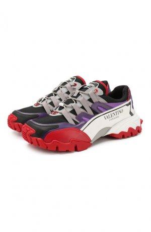 Комбинированные кроссовки Garavani Climbers Valentino. Цвет: разноцветный
