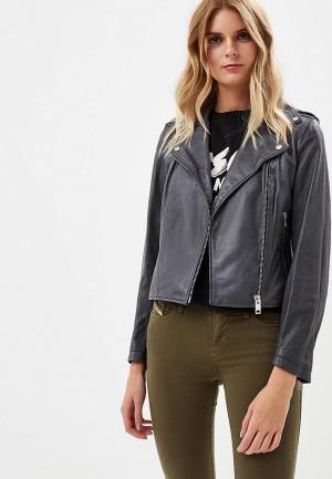 Куртка кожаная Diesel DI303EWCTNN6. Цвет: серый