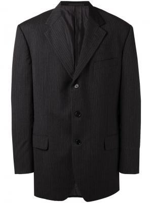 Пиджак в полоску Romeo Gigli Pre-Owned. Цвет: серый