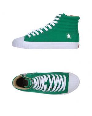 Высокие кеды и кроссовки BOBBIE BURNS. Цвет: зеленый