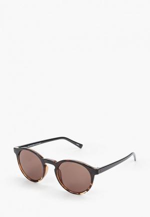Очки солнцезащитные Selected Homme. Цвет: коричневый