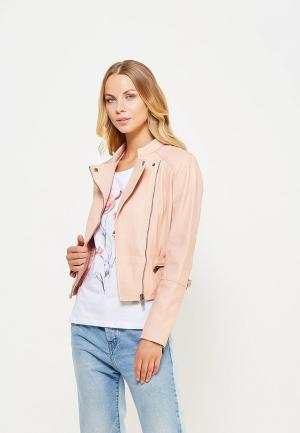Куртка кожаная Pepe Jeans. Цвет: розовый